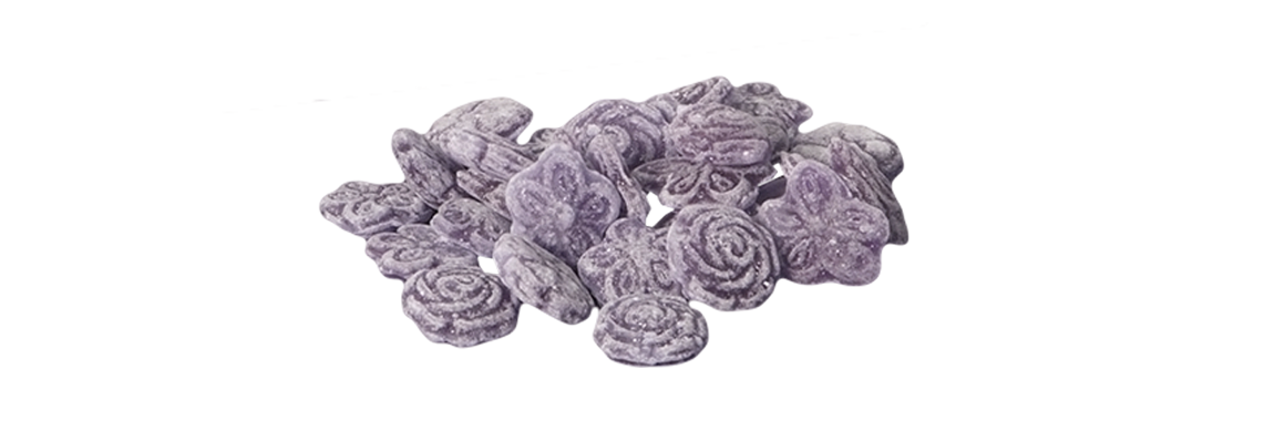 Bomboneria la pajarita caramelos violetas caramelo